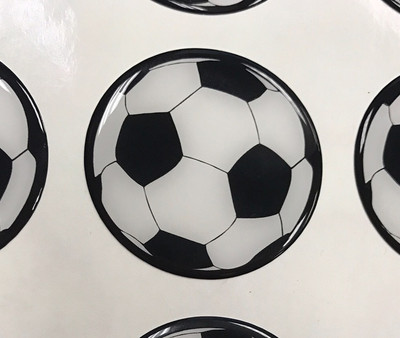 Domed Soccer Ball Stickers